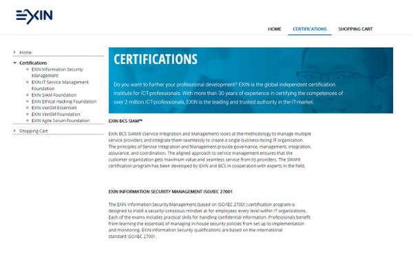 Exin Certifications